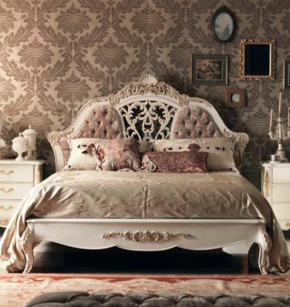 Pat dormitor clasic din lemn Granguardia