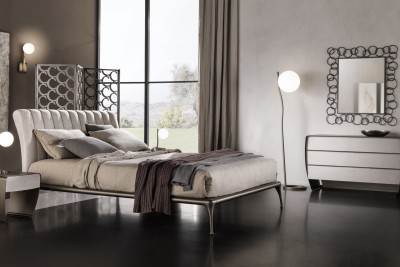 Pat dormitor tapitat modern Iseo - Mobilier dormitor
